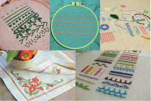 Простые украшающие швы: стебельчатый, тамбурный, «елочкой», «бархатный» и другие