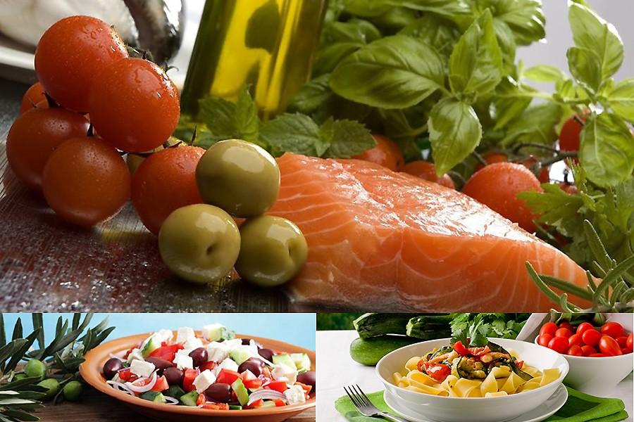 Средиземноморская диета, меню