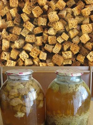 Хлебный квас из сухарей