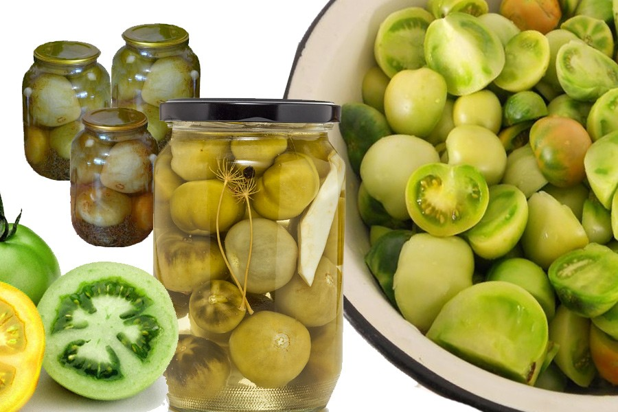 Салат из зеленых помидоров на зиму: 7 лучших рецептов
