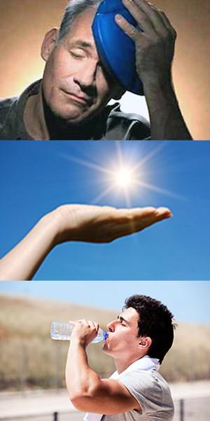 Солнечный удар - симптомы