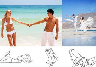 Позы для фотосессии на пляже