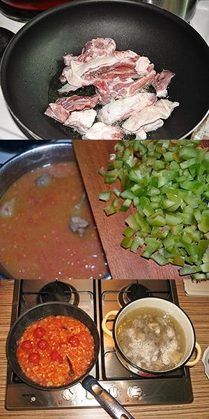 Приготовление супа-харчо