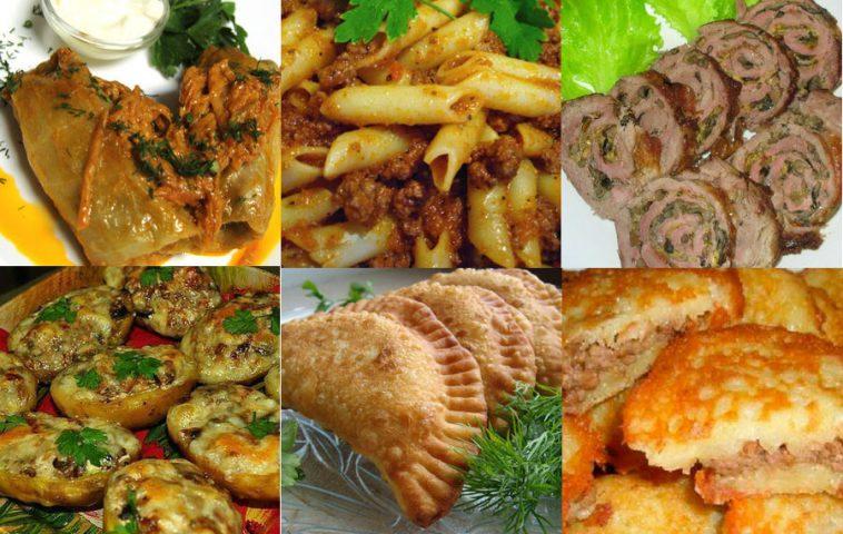Блюда из фарша мясного: рецепты с фото
