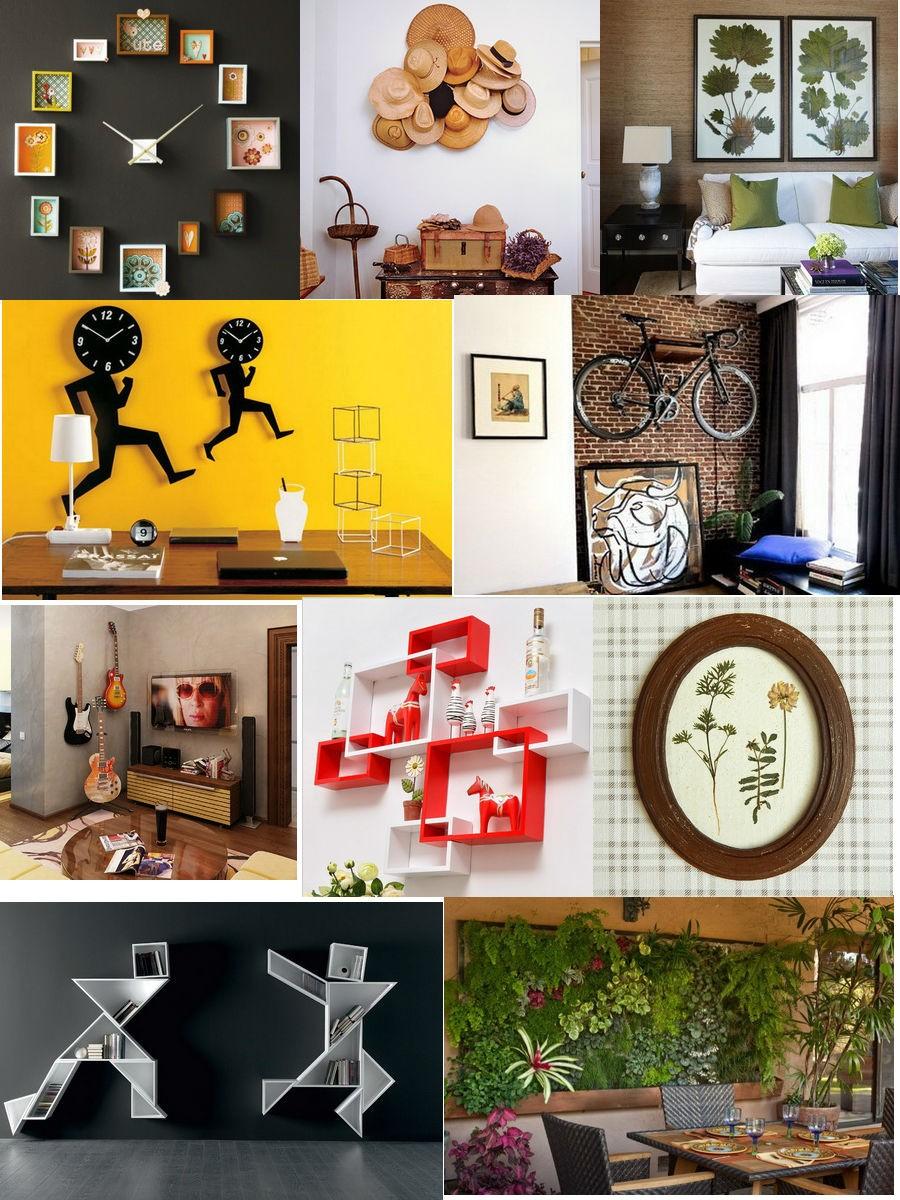 Декор стен в квартире своими руками: советы и фото