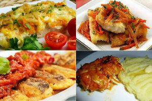 Минтай в духовке с луком и морковью: рецепты