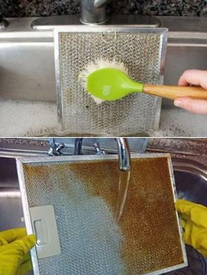 как отмыть вытяжку
