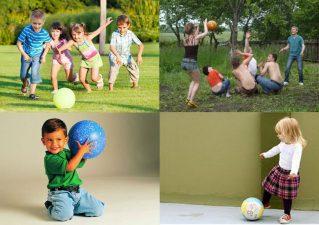 Подвижные игры с мячом для детей разного возраста