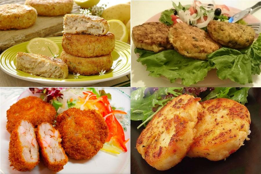 Рыбные котлеты на сковороде, в духовке и на пару: рецепты