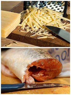 очень вкусные котлеты ил лосося с сыром