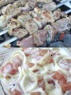 как мариновать мясо на шашлык в кефире