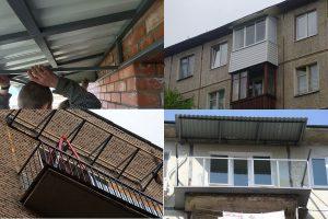 Как сделать крышу балкона на последнем этаже своими руками