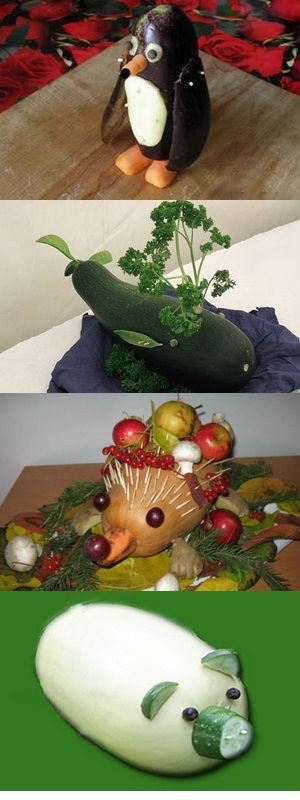 Осенние поделки из овощей своими руками для детского сада