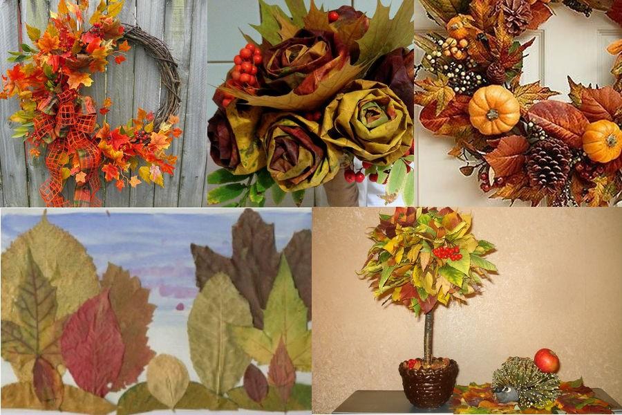 Осенние поделки из листьев для дома и детского сада: идеи, инструкции