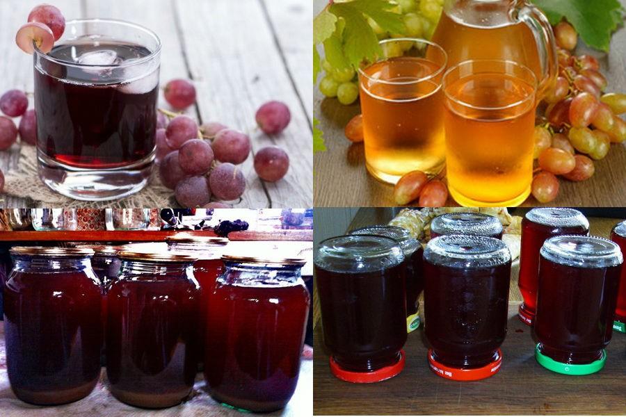 Виноградный сок на зиму: рецепты, советы