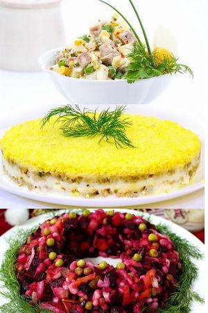 традиционнные новогодние салаты
