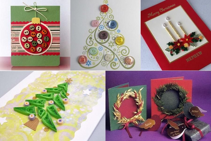 Рождественская открытка своими руками: идеи, инструкции
