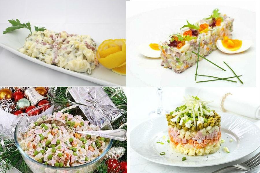 Варианты подачи салата