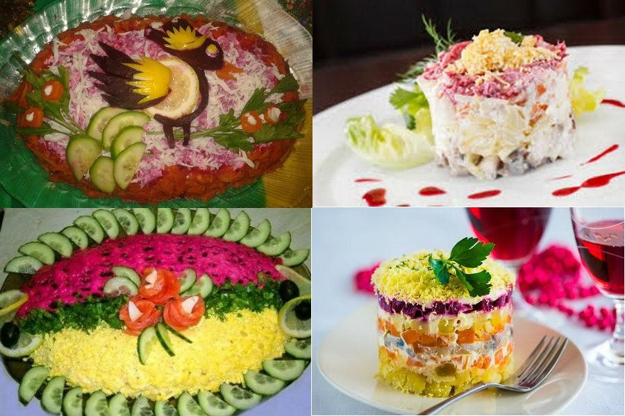 """как украсить салат """"Селедка под шубой"""""""