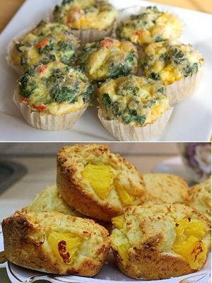 сырные кексы с овощами