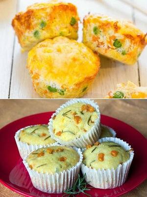 маффины с кукурузой и сыром