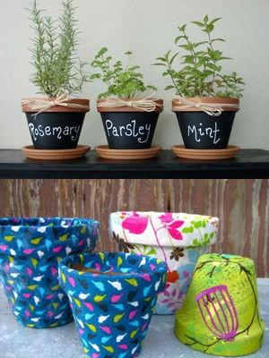 Как украсить и обновить кашпо для цветов своими руками