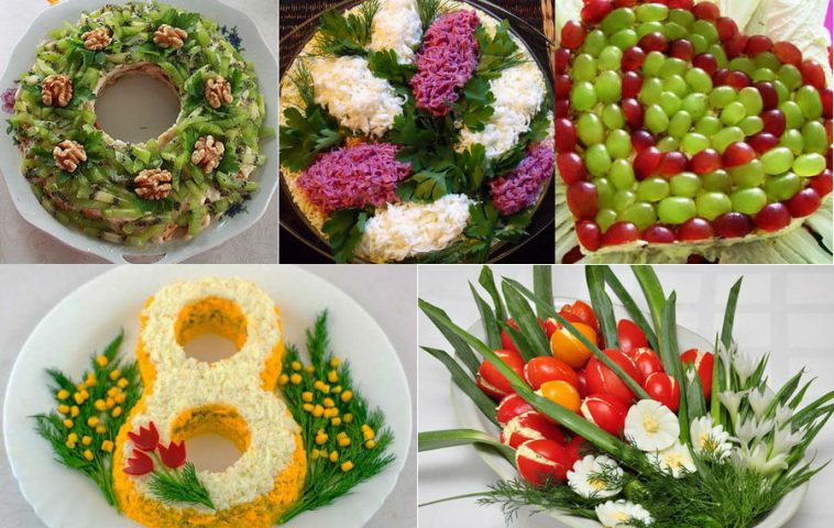Простые и вкусные салаты на 8 Марта: 8 рецептов, варианты оформления
