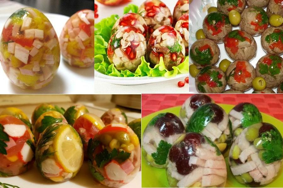 Как сделать заливные яйца в скорлупе: технология, рецепты начинки
