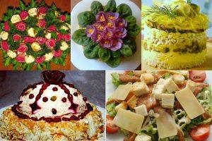 Салаты на день рождения, простые и вкусные: 10 рецептов, оформление