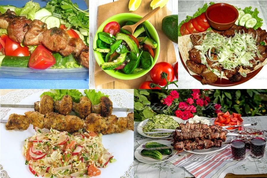 Легкие салаты к шашлыку на природе: 10 простых, но необычных рецептов
