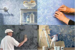 Как выполнить декор стен без обоев, чтобы было красиво