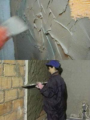 штукатурка цементным раствором