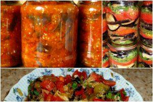 Вкусные салаты с баклажанами и помидорами на зиму: 7 удачных рецептов