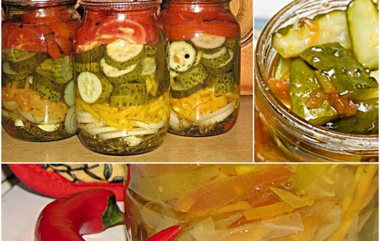 салаты из помидоров и огурцов на зиму - рецепты