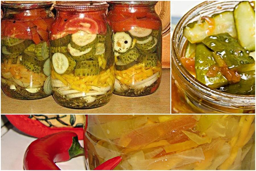 Салаты из помидоров и огурцов на зиму: 7 удачных рецептов