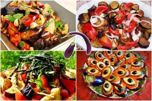 Салаты с баклажанами и помидорами: 9 рецептов, варианты оформления