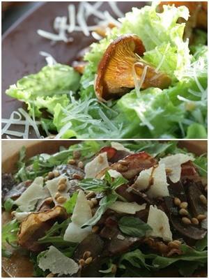 теплый салат из лисичек