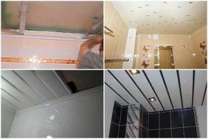 Ремонт потолка в ванной комнате пластиковыми панелями своими руками