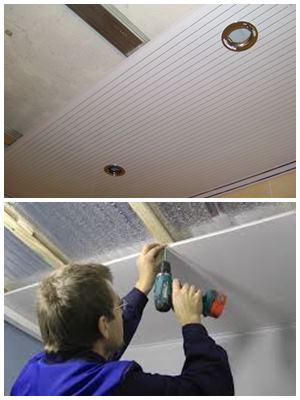 ремонт потолка панелями ПВХ