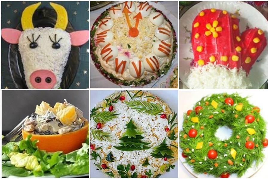 Вкусные тематические салаты на Новый год – 2021: 10 простых рецептов