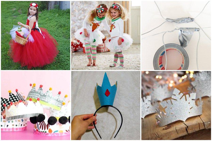Как сделать новогодний костюм для девочки своими руками, не умея шить
