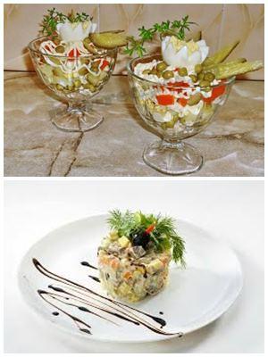 как украсить столичный салат