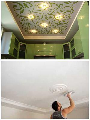 виды отделки потолка