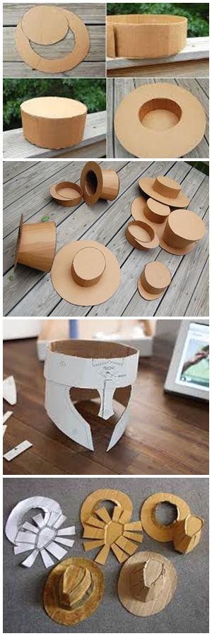 как сделать шляпу из картона