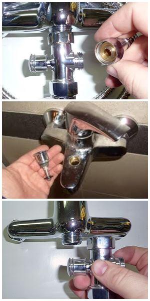 ремонт переключателя ванна-душ