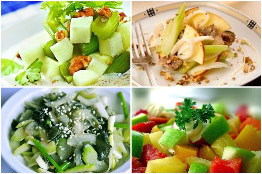 Легкие салаты из сельдерея стеблевого (черешкового): лучшие рецепты