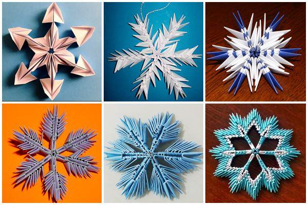 Красивые бумажные снежинки