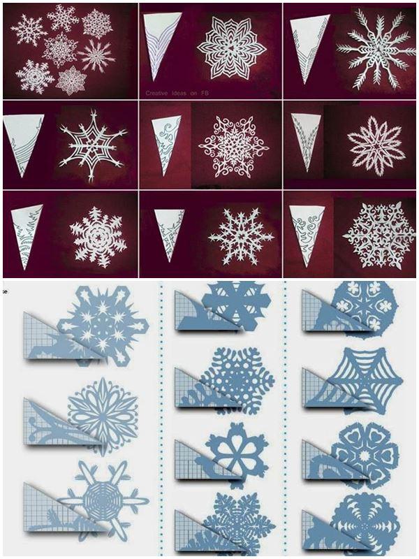Шаблоны для снежинок из бумаги