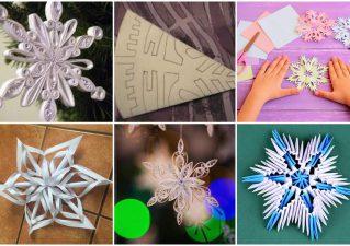 как сделать красивую снежинку из бумаги