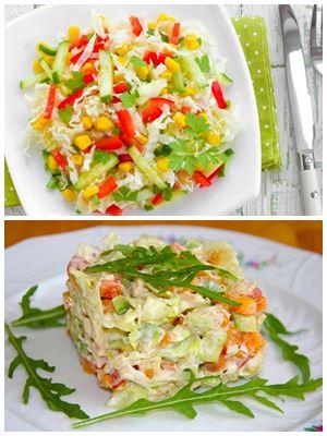 вегкнский салат к Новому году
